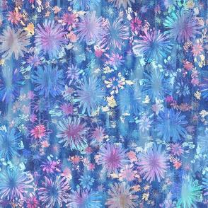love floral blue