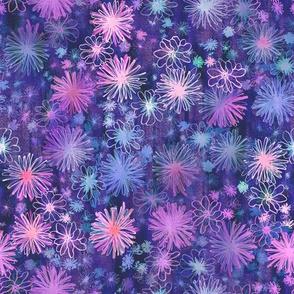 love floral purple
