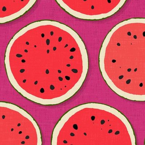 watermelon polka pink