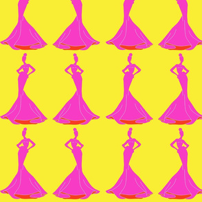 A Fashion Mannequin in Hot Pink and Sunshine Yellow