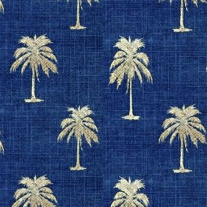 Golden  Palms on Denim