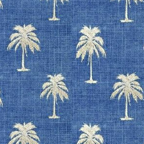 Golden Palm on Vintage Denim
