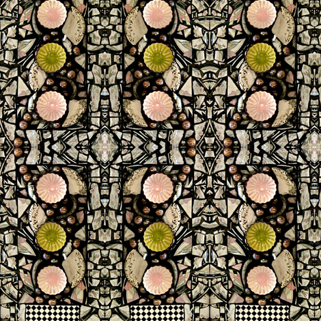 Broken Plate Mosaic fabric by whimzwhirled on Spoonflower - custom fabric