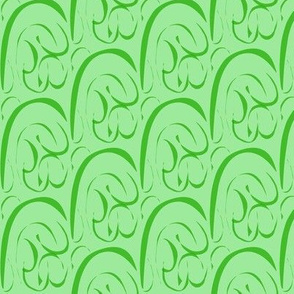 Rolling  Hills and Valleys on Pastel Green