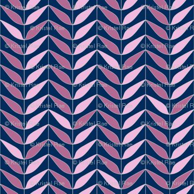 Dream Flower Leaf Lines—Pink