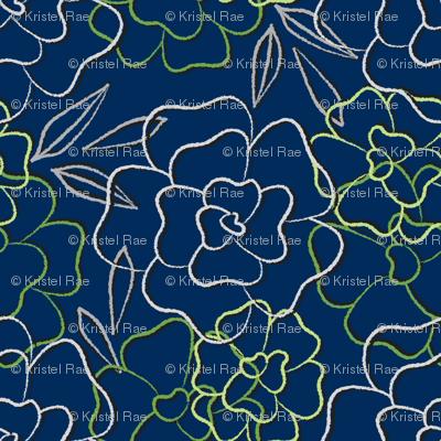 Dream Flower Outline—Green