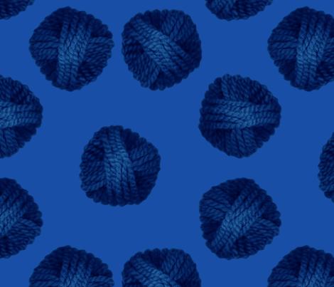 monochromatic blue yarn fabric by martha_emily_designs on Spoonflower - custom fabric