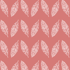 tropical leaves  pink and flamingo