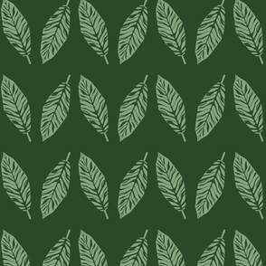 tropical leaves emerald and green