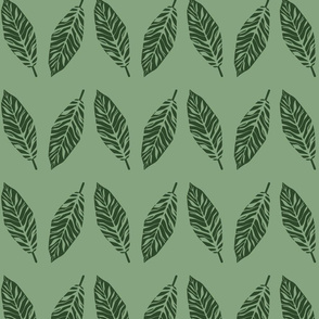 tropical leaves green and emerald