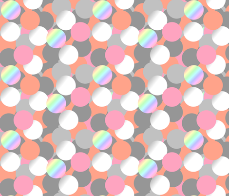 Bubbles grey pink & pearl - Bulles gris rose & nacre fabric by meloxiane on Spoonflower - custom fabric