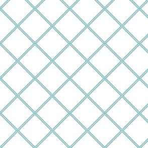 aqua lattice ogee fretwork trellis aqua turquoise