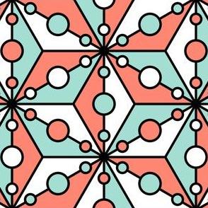 07357907 : SC3C spotty : coral mint