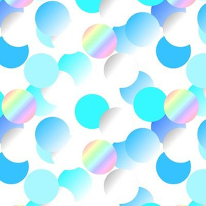 Bulles blanc bleu nacre - Bubbles white blue mother of pearl