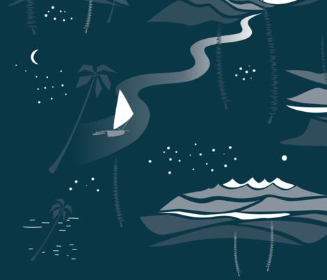 Quiet night fabric by motifunique on Spoonflower - custom fabric