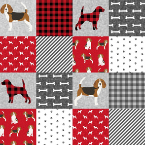 beagle  pet quilt a dog breed fabric cheater quilt wholecloth