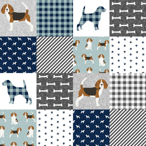 beagle  pet quilt b dog breed fabric cheater quilt wholecloth