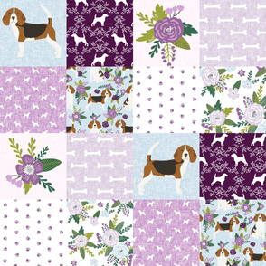 beagle  pet quilt c dog breed fabric cheater quilt wholecloth