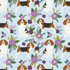 beagle  pet quilt c dog breed fabric coordinate floral