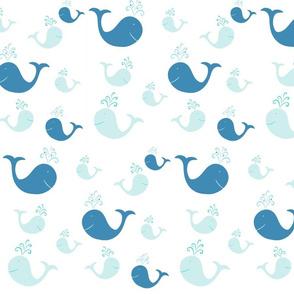 whale tales splash 105- blue