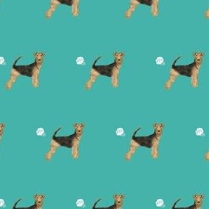 airedale terrier dog fart funny cute dog breed teal