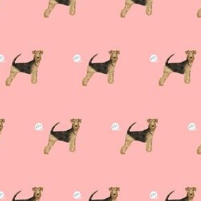 airedale terrier dog fart funny cute dog breed pink
