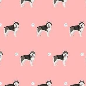 alaskan malamute dog fart funny cute dog breed pink