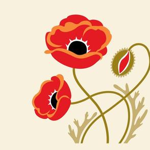 red poppy panel