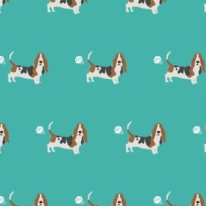 basset hound dog fart funny cute dog breed teal