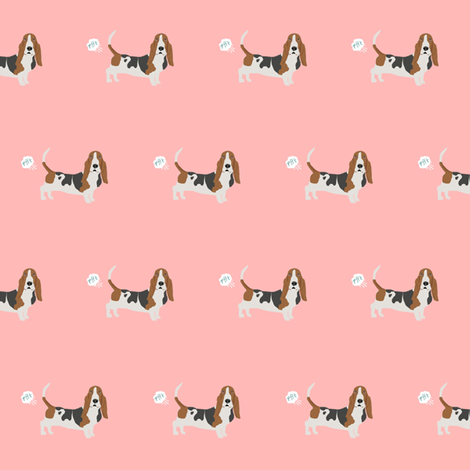 Basset Hound Dog Fart Funny Cute Dog Breed Pink Wallpaper