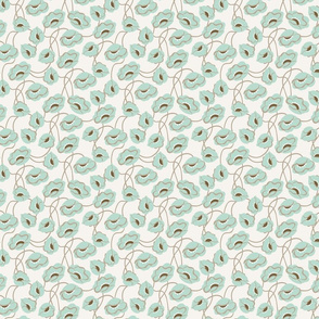 Poppy dance mint medium