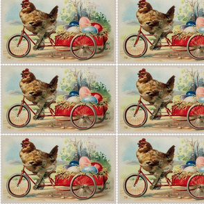 Vintage Easter Bicycle Hen