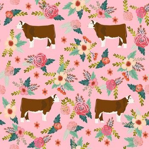 hereford floral fabric - simple layout - pink