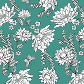 floral line drawings