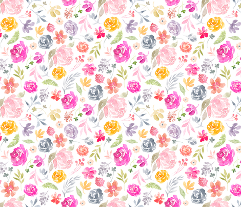 BlushyWC-Floral-Tile-SF fabric by stephaniecorfee on Spoonflower - custom fabric