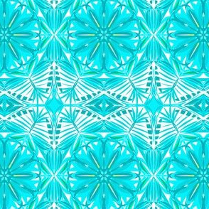 Aqua Frost Filigree Lace