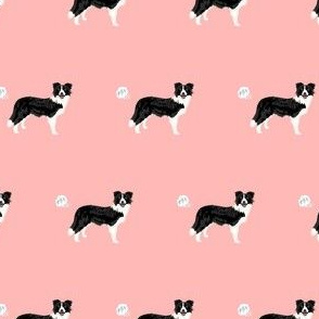 border collie dog fabric fart funny cute pure breed sewing projects pink