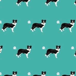 border collie dog fabric fart funny cute pure breed sewing projects teal