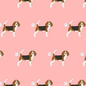 beagle dog fabric fart funny cute pure breed sewing projects pink
