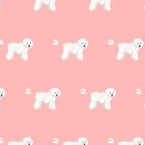 bichon dog fabric fart funny cute pure breed sewing projects pink