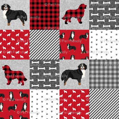 bernese mountain dog pet quilt a cheater quilt dog wholecloth fabric