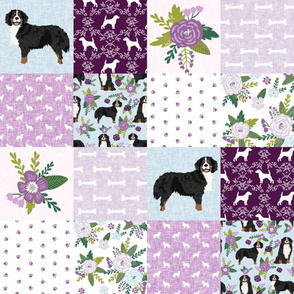 bernese mountain dog pet quilt c cheater quilt dog wholecloth fabric