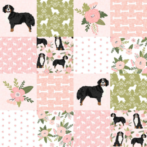 bernese mountain dog pet quilt d cheater quilt dog wholecloth fabric