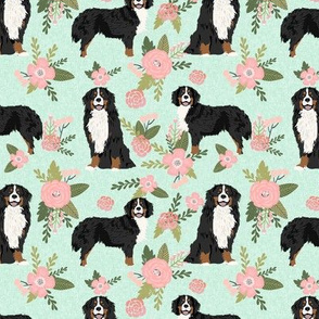 bernese mountain dog pet quilt d coordinate dog fabric floral
