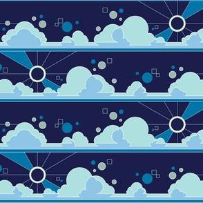 Cloud 9* (Jackie Blue) || clouds sky polka dots Art Deco pop sunset sunrise sunset sleep night moon sun rays