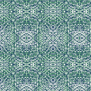 Peacock Colors  Fields of Dots Design