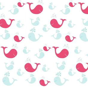 whale tales splash 105- sea pink
