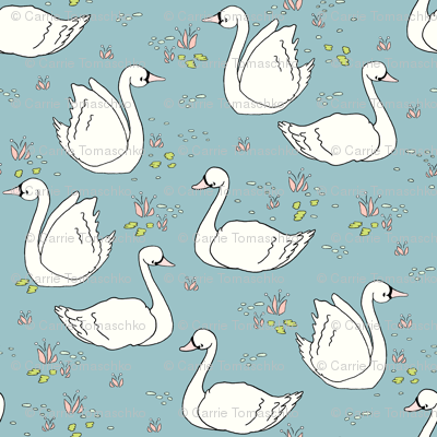 Swan Summer - Teal // by Sweet Melody Designs