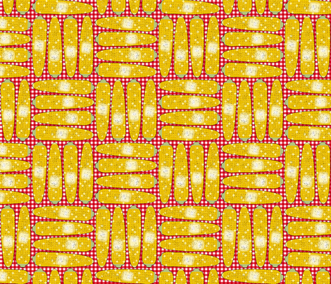 Corn Cookout Basketweave fabric by willowbirdstudio on Spoonflower - custom fabric
