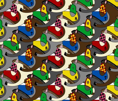 pony race fabric by b0rwear on Spoonflower - custom fabric